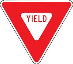 signs that says yield
