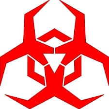 hazard symbol for malware infection